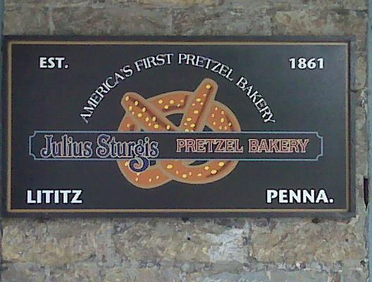 Julius Pterzel bakery sign